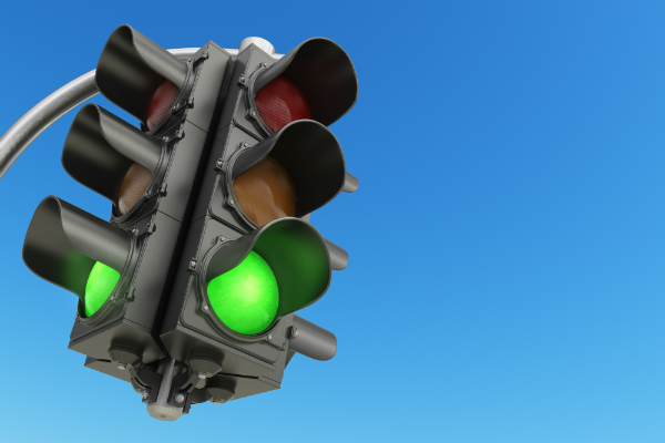 Just a picture of a green light.