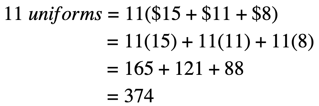 What does distributive property mean