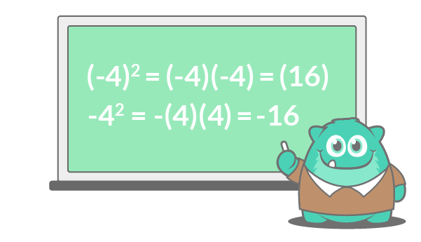 negative exponents with brackets