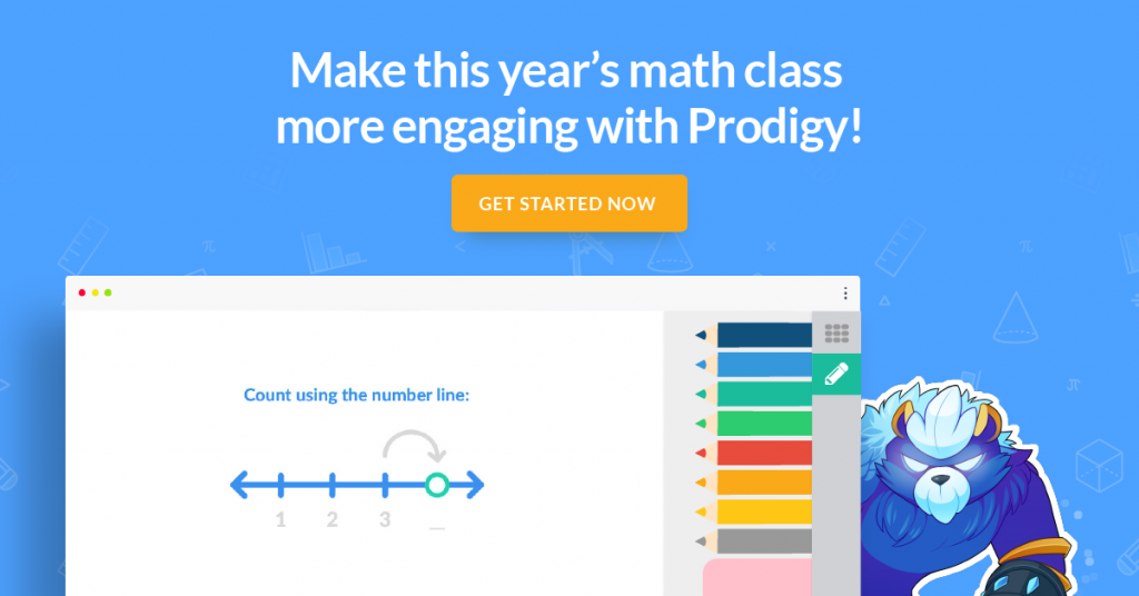 Make this year's math class more engaging with Prodigy! Click to get started now.