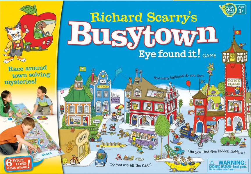 Richard Scarry's Busytown: Eye Found It! Board game for young kids