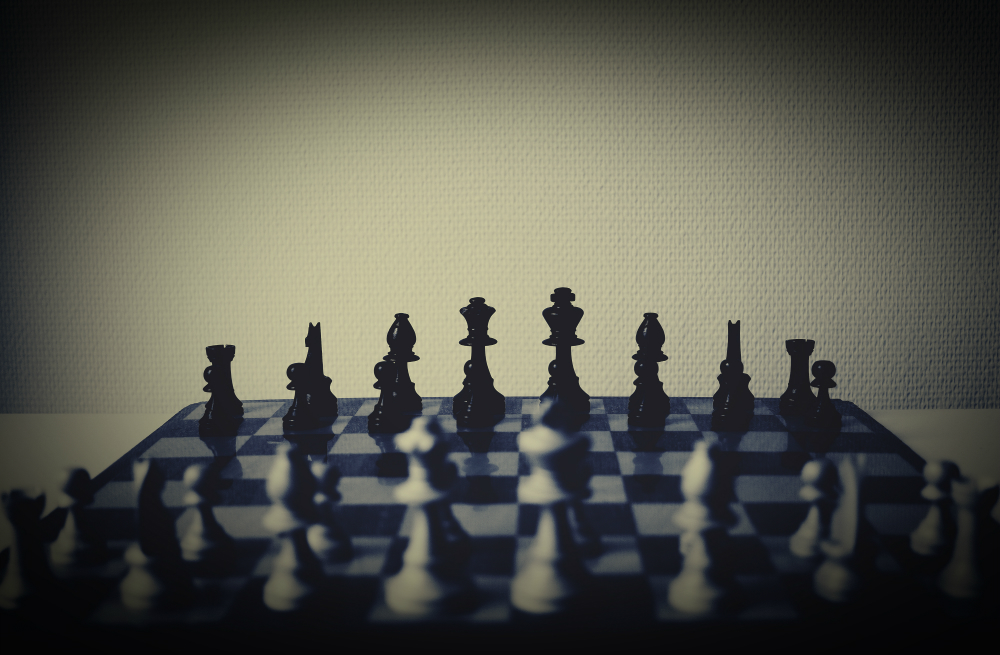 A chess board that, used in certain ways, can be an example of game-based learning in the classroom.