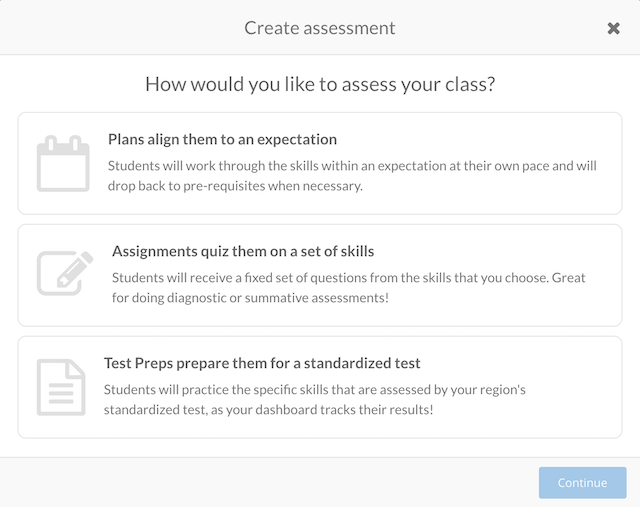 Prodigy assessments tool