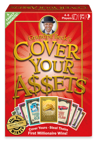 cover your assets card game board game