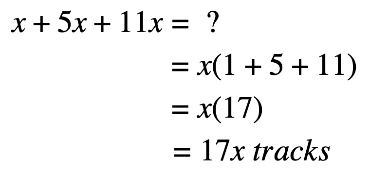 distributive property word problems