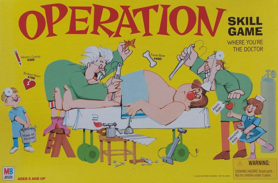 operation skill game board game