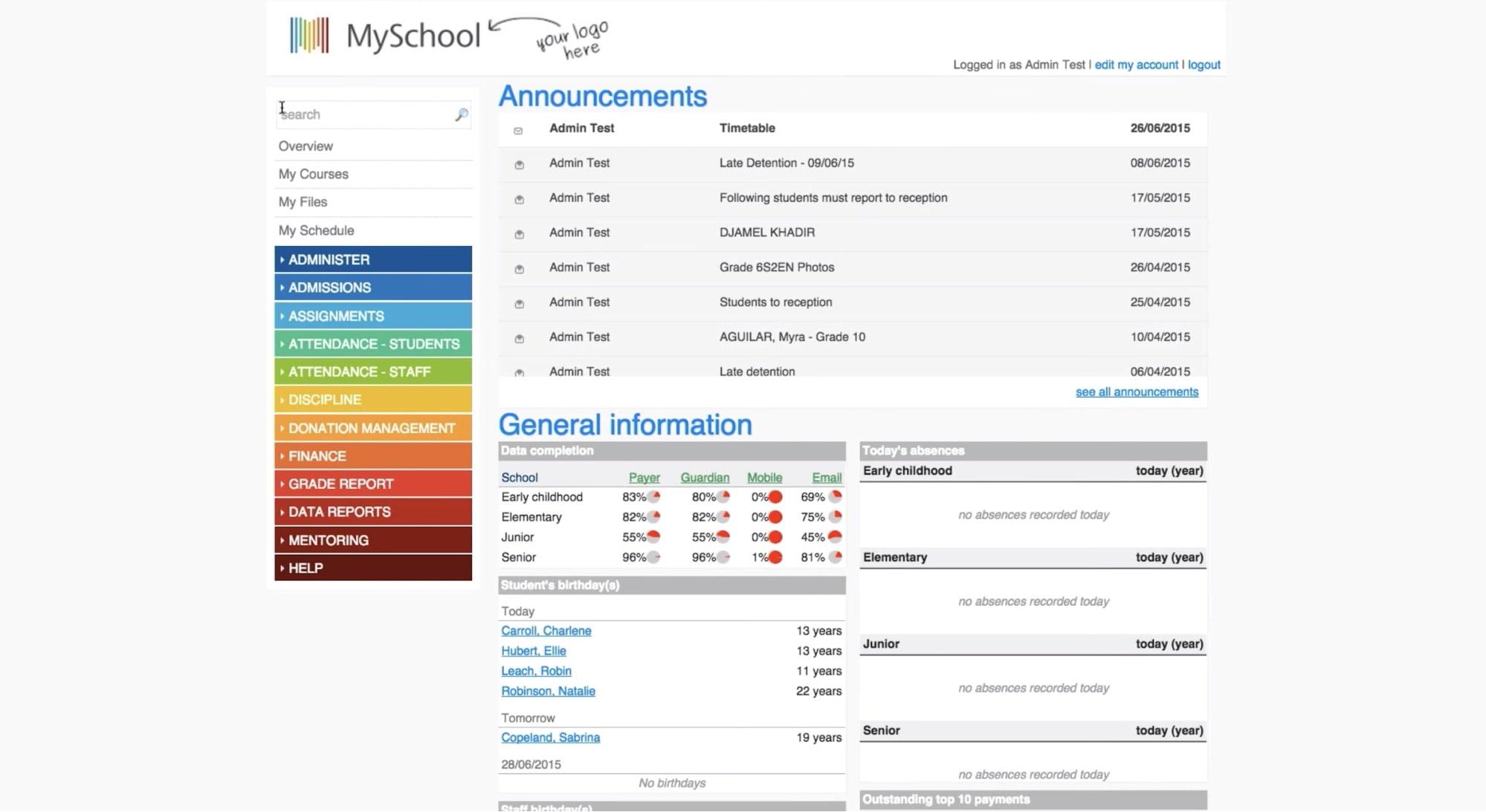 software for school admin