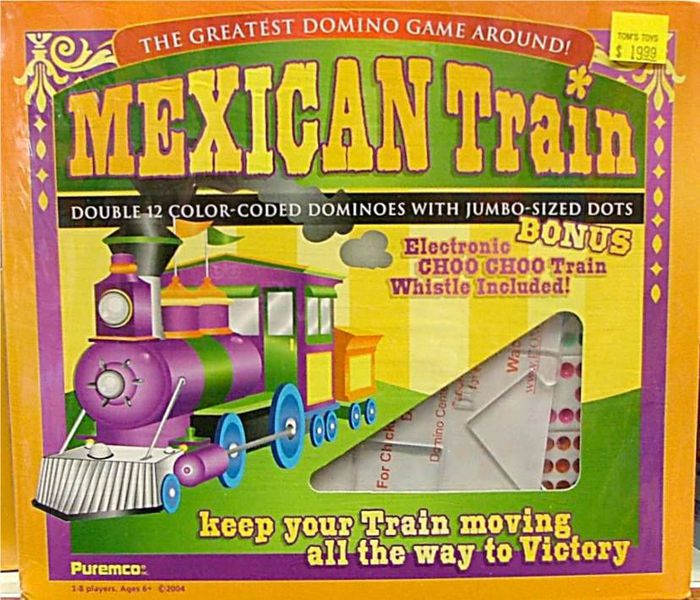 mexican train board game domino game