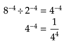 how to calculate negative exponents