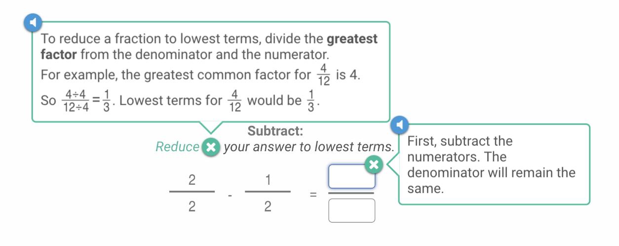 subtracting fractions with different denominators